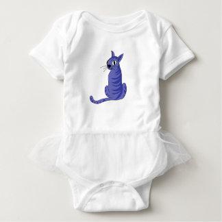 Body Para Bebê Gato azul