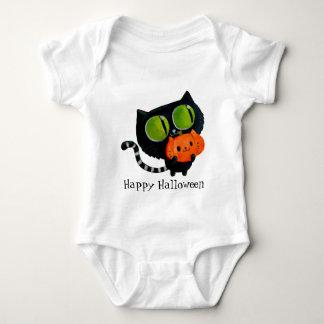 Body Para Bebê Gato bonito do Dia das Bruxas com abóbora