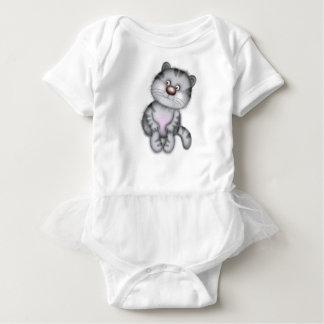 Body Para Bebê Gato cinzento engraçado, que apelará ao childre