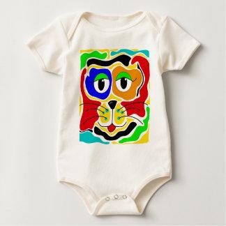 Body Para Bebê Gato colorido