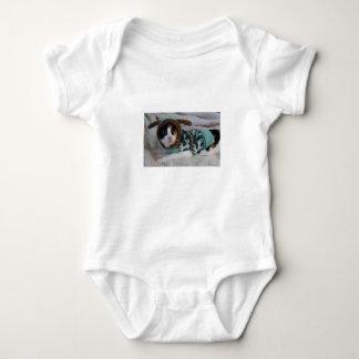 Body Para Bebê Gato de chita da camisola