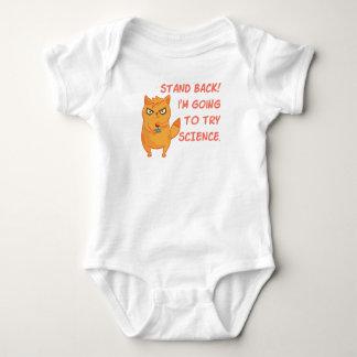 Body Para Bebê Gato de néon do gatinho do cientista da