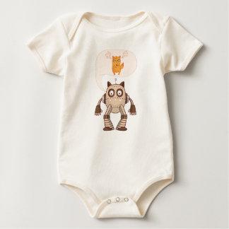 Body Para Bebê Gato de néon irritado engraçado com controlador de