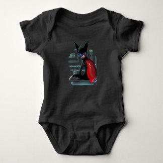 Body Para Bebê Gato de Ninja do Cyberpunk