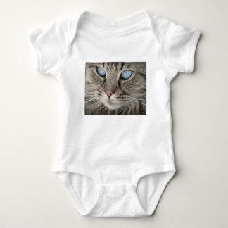 Body Para Bebê Gato de tigre animal dos olhos de gato do retrato