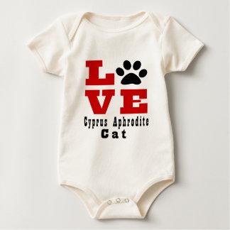 Body Para Bebê Gato Designes do Afrodite de Chipre do amor