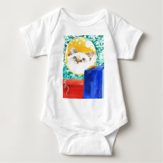 Body Para Bebê Gato do Natal