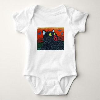 Body Para Bebê Gato e as moscas