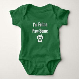 Body Para Bebê Gato engraçado Pata-Algum felino do am do