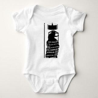 Body Para Bebê Gato engraçado que lê jogos de Shakespeare