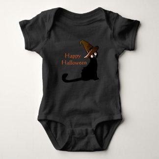 Body Para Bebê Gato feliz da bruxa do Dia das Bruxas - t-shirt