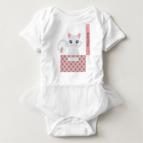 Body Para Bebê Gato na caixa
