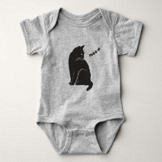 Body Para Bebê Gato preto