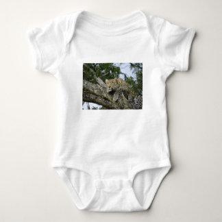 Body Para Bebê Gato selvagem animal do safari de África da árvore