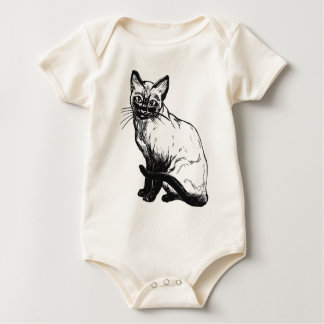 Body Para Bebê Gato Siamese