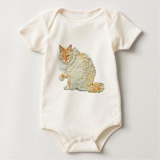 Body Para Bebê Gato siamese 2 do ponto da chama