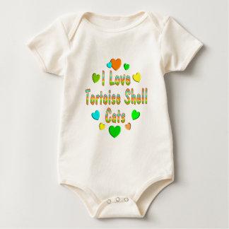 Body Para Bebê Gatos da concha de tartaruga do amor