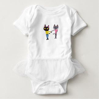 Body Para Bebê Gatos de BFFs (bandeja & Chibi)