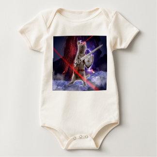 Body Para Bebê gatos do guerreiro - gato do cavaleiro - laser do