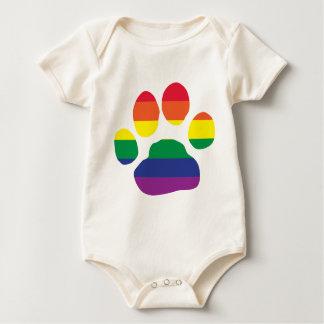 Body Para Bebê Gay-Orgulho-Pata-Impressão