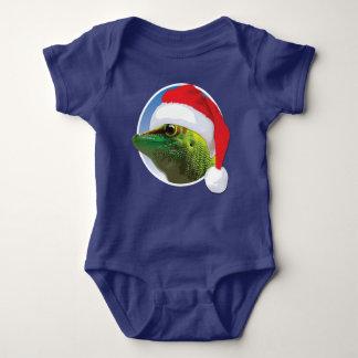 Body Para Bebê Geco do Natal - Bodysuit do jérsei do bebê