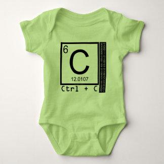 Body Para Bebê Geek mim! Cópia de carbono