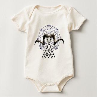 Body Para Bebê Geometria sagrado do crânio da ram