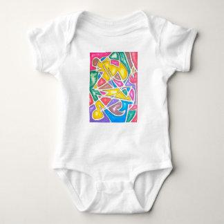 Body Para Bebê Geométrico abstrato pintado Estrela-Mão do