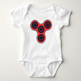 Body Para Bebê Girador vermelho da inquietação