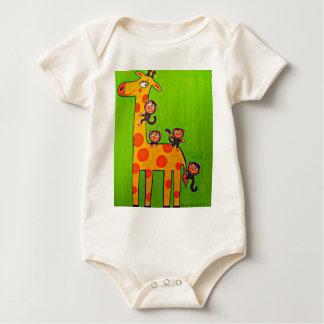Body Para Bebê Girafa e trabalhos sujos