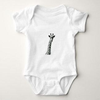 Body Para Bebê Girafa preto e branco
