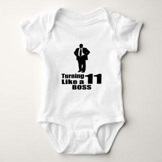 Body Para Bebê Girando 11 como um chefe