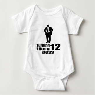 Body Para Bebê Girando 12 como um chefe