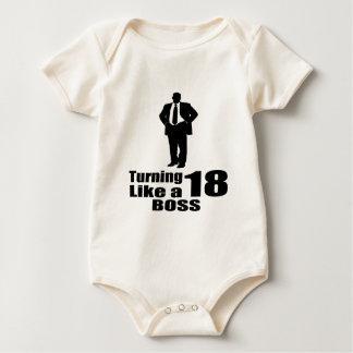 Body Para Bebê Girando 18 como um chefe
