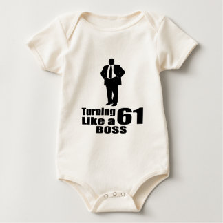 Body Para Bebê Girando 61 como um chefe
