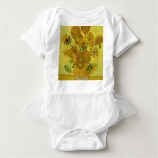Body Para Bebê Girassóis de Vincent van Gogh - arte clássica