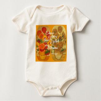 Body Para Bebê Girassóis felizes e tristes