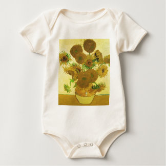 Body Para Bebê Girassóis por Vincent van Gogh