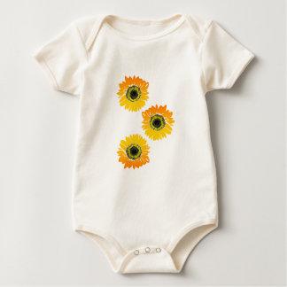 Body Para Bebê Girassóis triplos