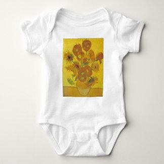 Body Para Bebê Girassóis - Vincent van Gogh