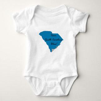 Body Para Bebê Gire South Carolina azul! Orgulho Democrática!