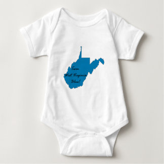 Body Para Bebê Gire West Virginia azul! Orgulho Democrática