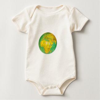 Body Para Bebê Globo com a terra do planeta isolada no branco