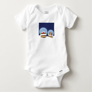 Body Para Bebê Globos da neve do Natal e presente de Papai Noel