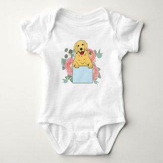 Body Para Bebê Golden retriever que guardara o sinal