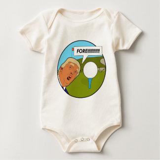 Body Para Bebê Golfe de Donald Trump