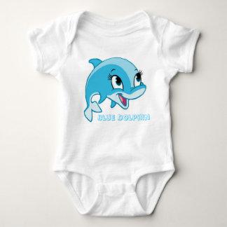 Body Para Bebê golfinho azul