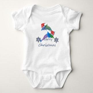 Body Para Bebê Golfinhos do Natal