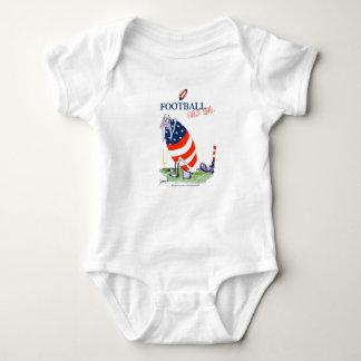 Body Para Bebê Golo de campo do futebol, fernandes tony