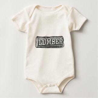 Body Para Bebê Gráfico do registro da madeira serrada do